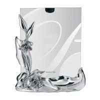 BONGELLI Portafoto da tavolo  cornice in argento decoro margherite