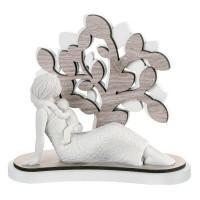 BONGELLI PREZIOSI MATERNITA' POLVERE DI MARMO E RESIANA con albero della vita in LEGNO