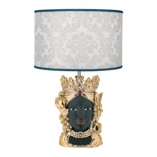 BONGELLI PREZIOSI Lampada da tavolo  con testa di moro FEMMINILE