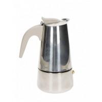 BRANDANI CAFFETTIERA BORBOTTINA AD INDUZIONE 2 TAZZE INOX CON MANICO SOFT TOUCH