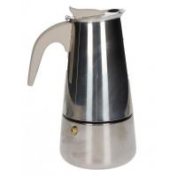 BRANDANI CAFFETTIERA BORBOTTINA AD INDUZIONE 4 TAZZE INOX CON MANICO SOFT TOUCH