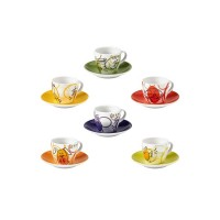 BRANDANI ALLEGRA COMBRICCOLA SET 6 TAZZINE CAFFE PORCELLANA