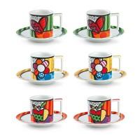 EGAN Set 6 Tazze Caffè Britto 90 Ml