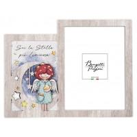 BONGELLI PREZIOSI CORNICE PORTAFOTO ANGELO STELLA 26,5 X 20,5 CM