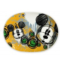 Vassoio Disney Topolino Mickey Mouse ovale in melamina Egan