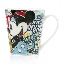 Mug Azzurra Mickey Mouse e Minniei Porcellana Egan Topolino