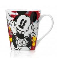 Mug Disney Mickey Mouse Rosso e Giallo Porcellana Egan Topolino
