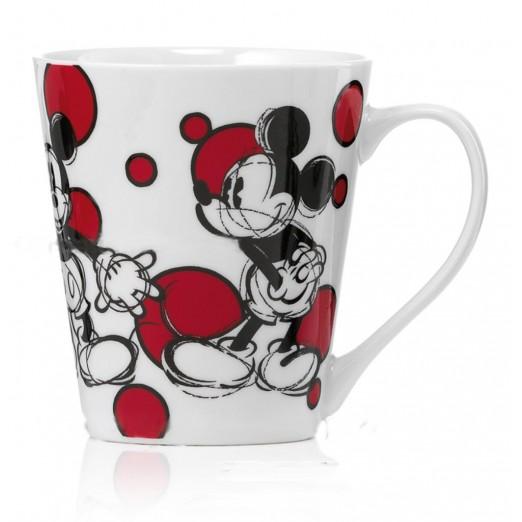 Mug Disney Mickey Mouse Bolli Rossi Porcellana Egan Topolino