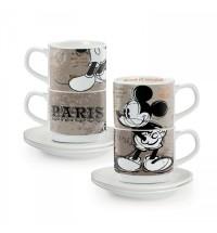EGAN set 2 tazzine caffè impilabili Parigi con piattini
