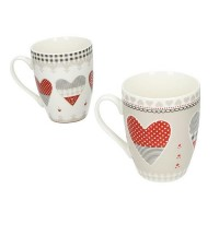 BRANDANI MUG HAPPY DAY SET 2PEZZI NEW BONE CHINA