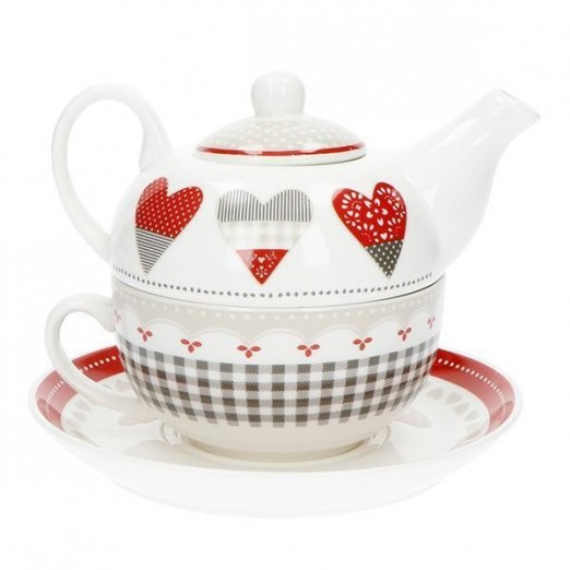 BRANDANI TEIERA CON TAZZA HAPPY DAY IN NEW BONE CHINA