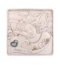 Bongelli preziosi formella angelo cuore argento