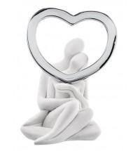 Bongelli preziosi statua innamorati cuore argento