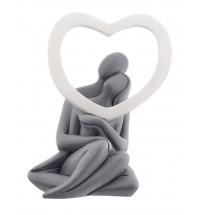 Bongelli preziosi statua innamorati cuore bianco