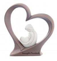 Bongelli preziosi statua maternità cuore tortora