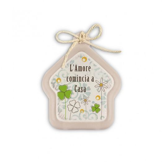 """EGAN Mini Formella Pensieri&Parole casa """"HOME"""" CERAMICHE"""