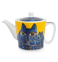 EGAN Teiera Laurel Burch blu ml 450 CERAMICHE
