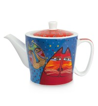 EGAN Teiera Laurel Burch rossa ml 450 CERAMICHE