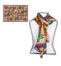 EGAN Pashmina Laurel Burch Karly's cat CERAMICHE