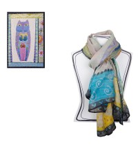 EGAN Pashmina Laurel Burch One plus one equals three CERAMICHE