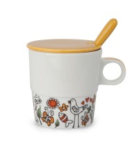 EGAN Tisaniera Tea for Two con cucchiaino arancio ml 330 CERAMICHE