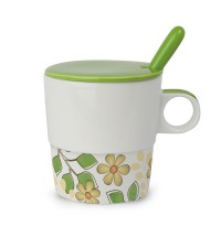 EGAN Tisaniera Tea for Two con cucchiaino verde ml 330 CERAMICHE