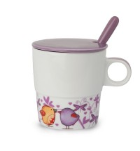 EGAN Tisaniera Tea for Two con cucchiaino viola ml 330 CERAMICHE
