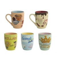 BRANDANI MUG LE SPIRITOSE DECORI ASSORTITIIN NEW BONE CHINA