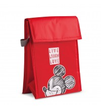 EGAN BORSA TERMICA MICKEY LIVE LAUGH LOVE ROSSO