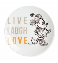EGAN PIATTO PORTATA MINNIE LIVE LAUGH LOVE ARANCIO