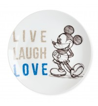 EGAN PIATTO PORTATA MICKEY LIVE LAUGH LOVE BLU