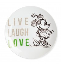 EGAN PIATTO PORTATA MINNIE LIVE LAUGH LOVE VERDE