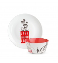 EGAN SET P.DOLCE E BOWL MICKEY LIVE LAUGH LOVE ROSSO