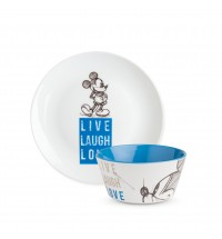 EGAN SET P.DOLCE E BOWL MICKEY LIVE LAUGH LOVE BLU