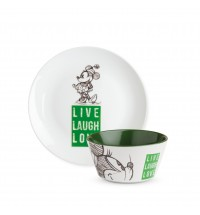 EGAN SET P.DOLCE E BOWL MINNIE LIVE LAUGH LOVE VERDE